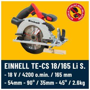 Ručni cirkular Einhell TE-CS 18-165