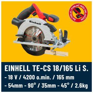 EINHELL TE-CS 18-165 Li Solo