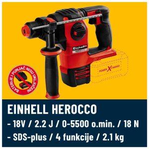 Einhell Herocco 18V bušilica
