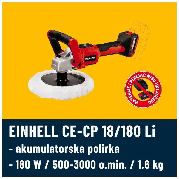 Akumulatorska polirka EINHELL CE-CP 18 180