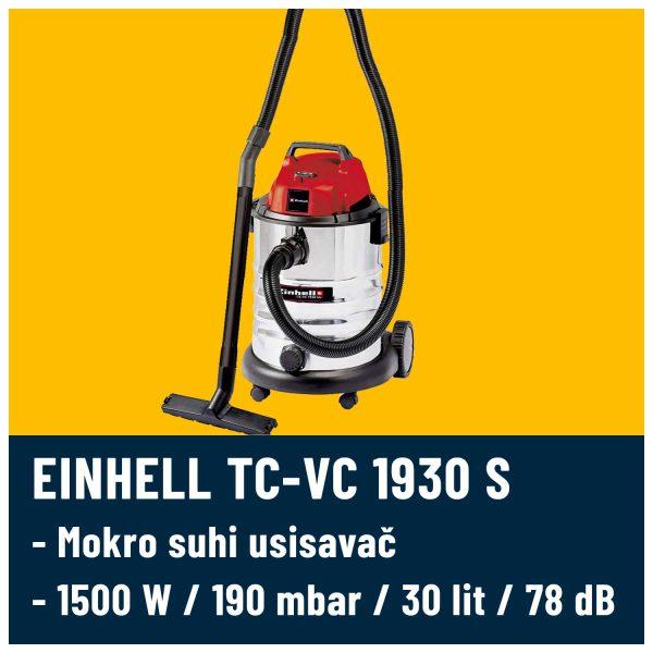 Suho mohri usisavač Einhell 1930 S